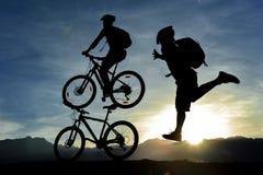 Motociclista creativo di concetto fotografie stock