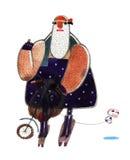 Motociclista da aquarela Imagem de Stock Royalty Free