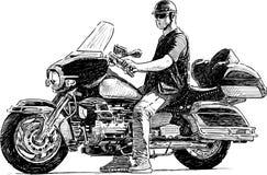 Motociclista da cidade Foto de Stock Royalty Free