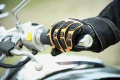 Motociclista da mão Fotografia de Stock