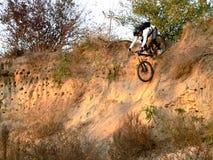 Motociclista da montanha Fotos de Stock Royalty Free
