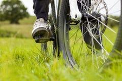 Motociclista da montanha Imagem de Stock Royalty Free