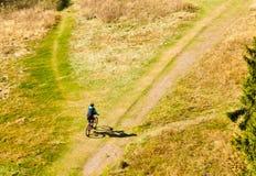 Motociclista da montanha Off-Road Foto de Stock