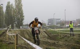 Motociclista da motocicleta da raça de Ironbike Fotos de Stock