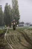 Motociclista da motocicleta da raça de Ironbike Imagens de Stock Royalty Free