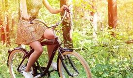 Motociclista da mulher Foto de Stock