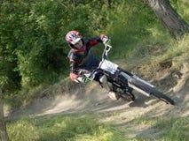 Motociclista del DH Immagine Stock Libera da Diritti