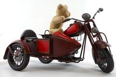 Motociclista dell'orsacchiotto Fotografia Stock Libera da Diritti
