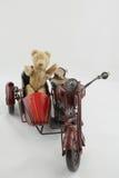 Motociclista dell'orsacchiotto Fotografia Stock