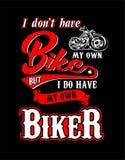 Motociclista della maglietta di progettazione royalty illustrazione gratis