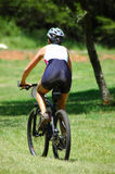 Motociclista della montagna Fotografia Stock