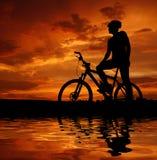 Motociclista della montagna Fotografia Stock Libera da Diritti