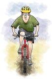 Motociclista della montagna royalty illustrazione gratis