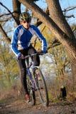 Motociclista della montagna Immagine Stock