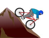 Motociclista della montagna Immagini Stock