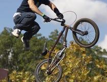 Motociclista di BMX Immagini Stock