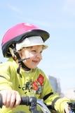 Motociclista di Llittle Fotografie Stock