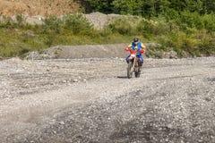 Motociclista di motocross Immagini Stock