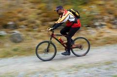 Motociclista di movimento di velocità Fotografia Stock Libera da Diritti