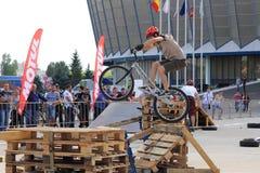 Motociclista di prova Fotografia Stock Libera da Diritti