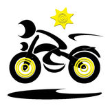 Motociclista di velocità Fotografia Stock Libera da Diritti