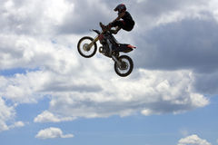Motociclista do conluio Fotos de Stock Royalty Free