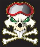 Motociclista do pirata Foto de Stock
