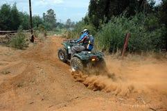 Motociclista do quadrilátero Fotos de Stock Royalty Free