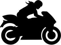 Motociclista femminile royalty illustrazione gratis