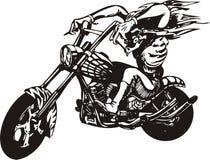 Motociclista louco. Foto de Stock Royalty Free