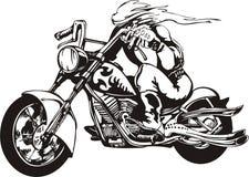 Motociclista louco. Foto de Stock