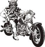 Motociclista louco. Imagem de Stock Royalty Free
