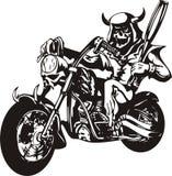 Motociclista louco. Fotografia de Stock Royalty Free
