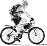 Motociclista moderno Fotografia Stock