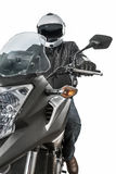 Motociclista no velomotor da estrada do capacete fotos de stock royalty free