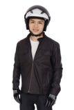Motociclista novo Imagem de Stock