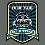 Motociclista o motore che corre l'emblema del club royalty illustrazione gratis