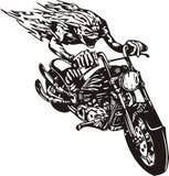 Motociclista pazzesco. Fotografie Stock Libere da Diritti