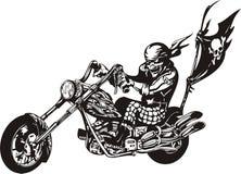 Motociclista pazzesco. Immagine Stock