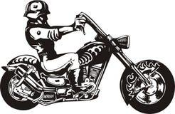 Motociclista pazzesco. Immagine Stock Libera da Diritti