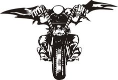 Motociclista pazzesco. royalty illustrazione gratis