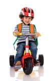 Motociclista pequeno Imagens de Stock