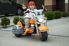 Motociclista pequeno Fotos de Stock Royalty Free