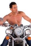 Motociclista sexy. Immagine Stock