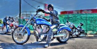 Motociclista sul motociclo Fotografie Stock Libere da Diritti