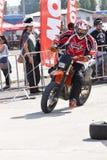 Motociclista sulla pista Fotografia Stock Libera da Diritti
