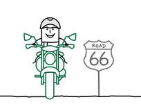 Motociclista sulla strada royalty illustrazione gratis