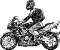 Motociclista urbano royalty illustrazione gratis