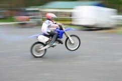 Motociclista veloce Fotografie Stock