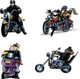 Motociclistas imagens de stock